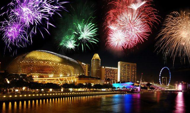 Bắn pháo hoa cuối năm ở Singapore