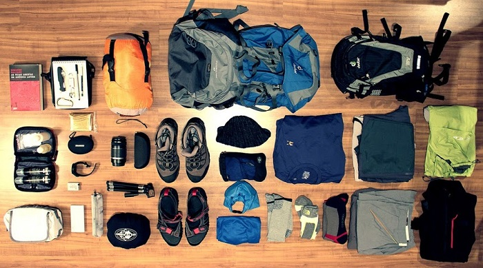 Chuẩn bị đầy đủ đồ dùng cá nhân khi đi phượt