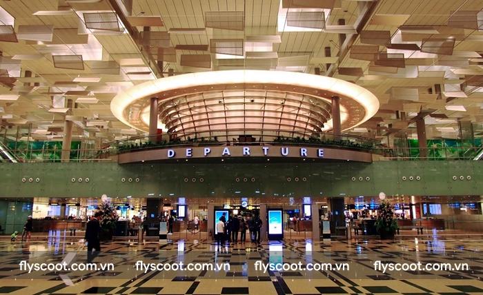 Sân bay Changi cực kì hiện đại và ấn tượng