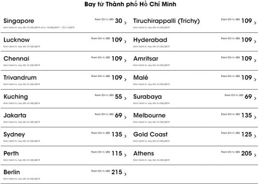 Cùng Scoot khám phá 17 điểm đến với vé máy bay khuyến mãi 39 USD từ thành phố Hồ Chí Minh