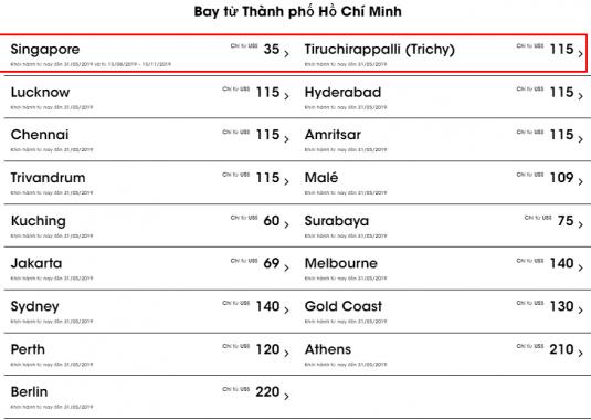 Khuyến mãi phải bay thôi từ Scoot chỉ 35 USD từ Hồ Chí Minh